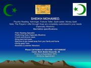 sheikh mohamed for all problems contact him at +27718065257