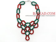 2013 Christmas Design Green Agate Necklace