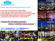 China Region Sales Marketing And Data Service